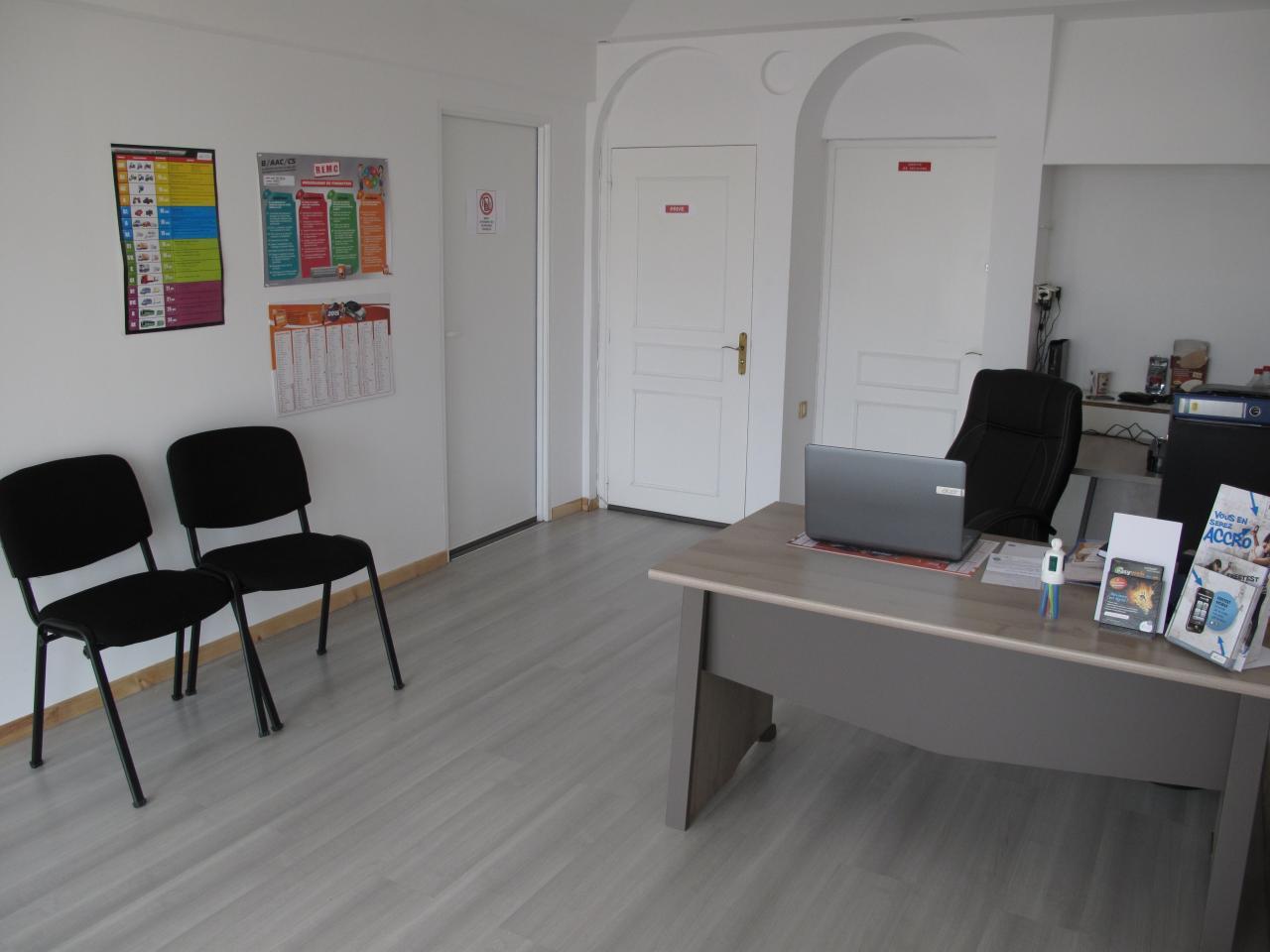La salle d'accueil